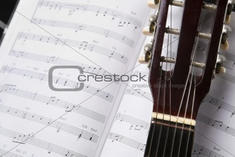 Classic guitar and music chords