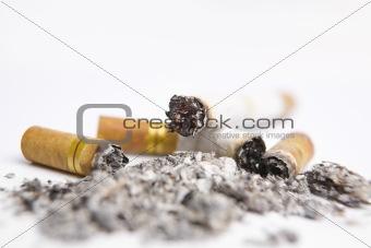 Cigarrette on ashtray