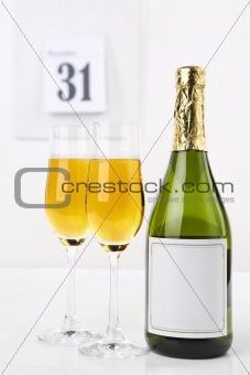Champagne on new year eve