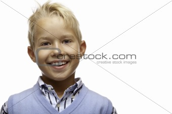 Portrait of happy smiling child (boy)