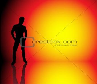 Boy Sun Background