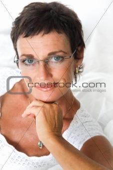 Beautiful mature woman smiling