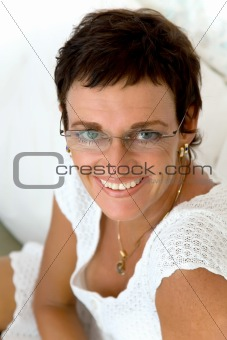 Beautiful mature woman smiling