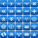 Abstract blue vector icon set