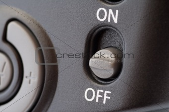 On/Off grey switch button
