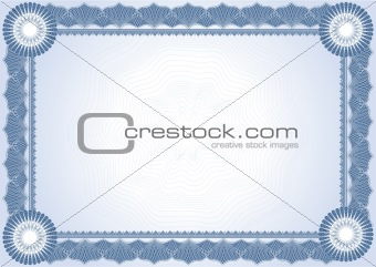Classic guilloche border for diploma or certificat