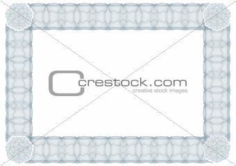 classic guilloche border for diploma