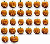 halloween pumpkins alphabet