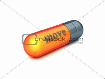 gray capsule move