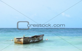 Old Boat in the Caribbean Sea