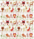 Abstract Floral and Animals Pattern