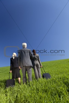 Business Travellers Environmental Concept Photograph In A Green