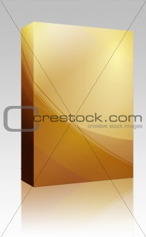 Abstract wallpaper box package
