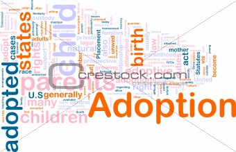 Adoption word cloud