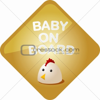 Baby on board chicken