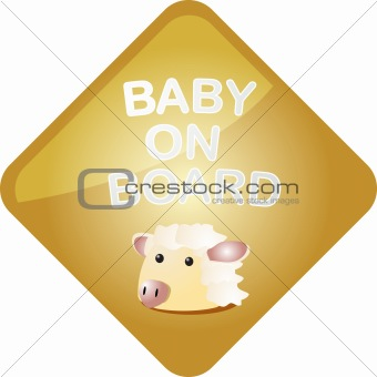 Baby on board sheep