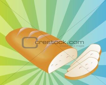 Sliced bread illustration
