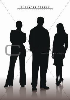 business team vector illustration