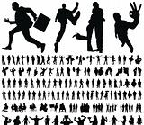 huge collection of excellent high quality traced people silhouettes vector illustration