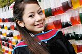 Asian graduate.