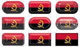 nine glass buttons of the Flag of angola