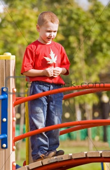 Boy on a playground