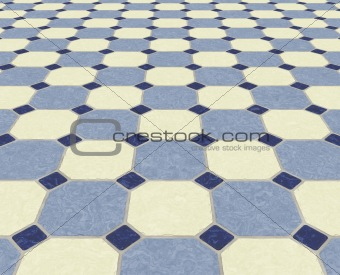 tiled floor background