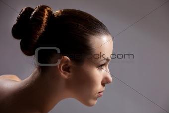 Beautiful girl with stylish haircut