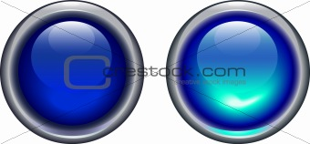 blue on and off button - vector