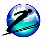 ski jump sign