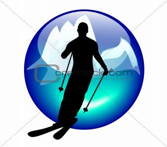 ski and slalom sign