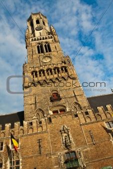 Clock tower in Brugge, Belgium