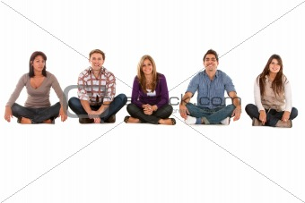 Casual group of seated people