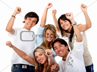 Excited group of people