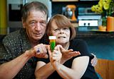 Senior Couple at Home with Prescription