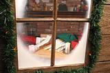 Santa Thru Window Reading Letter