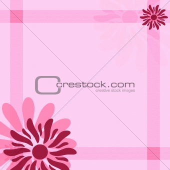Pink feminine flower background with stripes