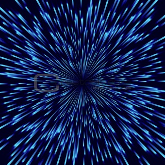Blue vector fireworks, light burst