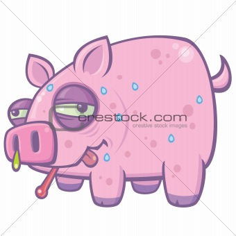 Cartoon Swine Flu Pig