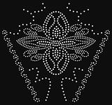 beaded flower graphic artwork