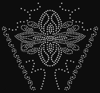 beaded flower graphic artwork