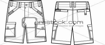 boy cargo outdor shorts