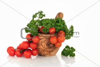 Tomatoes and Parsley Herb