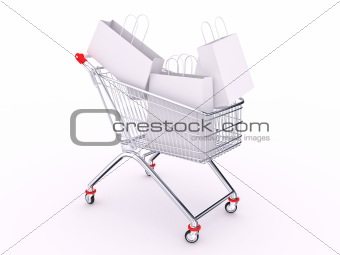 Cart with bags
