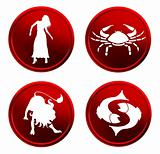 red zodiac signs - set 1