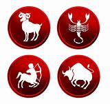 red zodiac signs - set 2