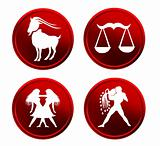 red zodiac signs - set 3