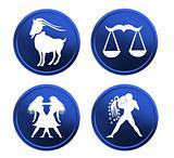 blue zodiac signs - set 1