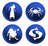 blue zodiac signs - set 2