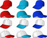Baseball Caps - red and blue